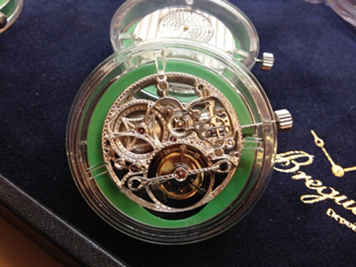 Inside Breguet's Tourbillon Room -- we witness a dozen different tourbillon escapements.