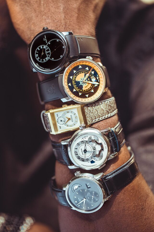 Aldis Hodge has a strong collection of both vintage and modern day watches. (Photo: Renwick Scott)
