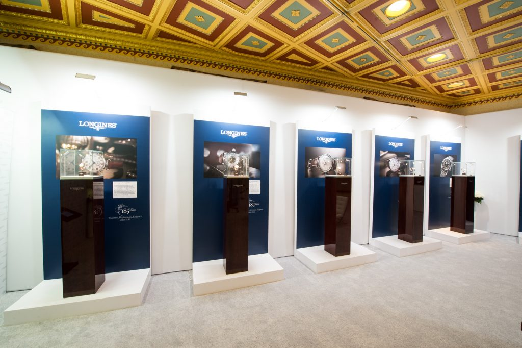 Longines unveiled a Heritage Exhibition at WatchTime New York 2017 that celebrates the brand's long history.