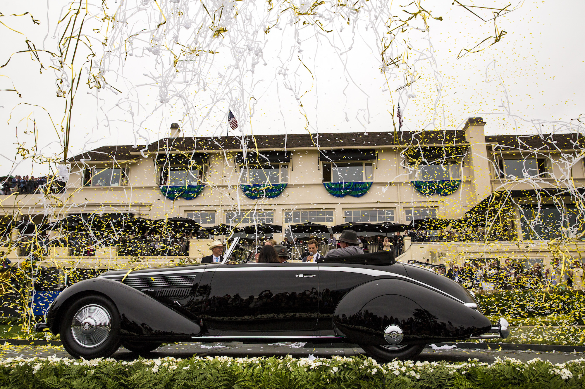 1936 Lancia Astura Pinin Farina Cabriolet Best of Show Award at Pebble Beach Concours d'Elegance 2016 (Photo: Rolex/Tom O'Neal)