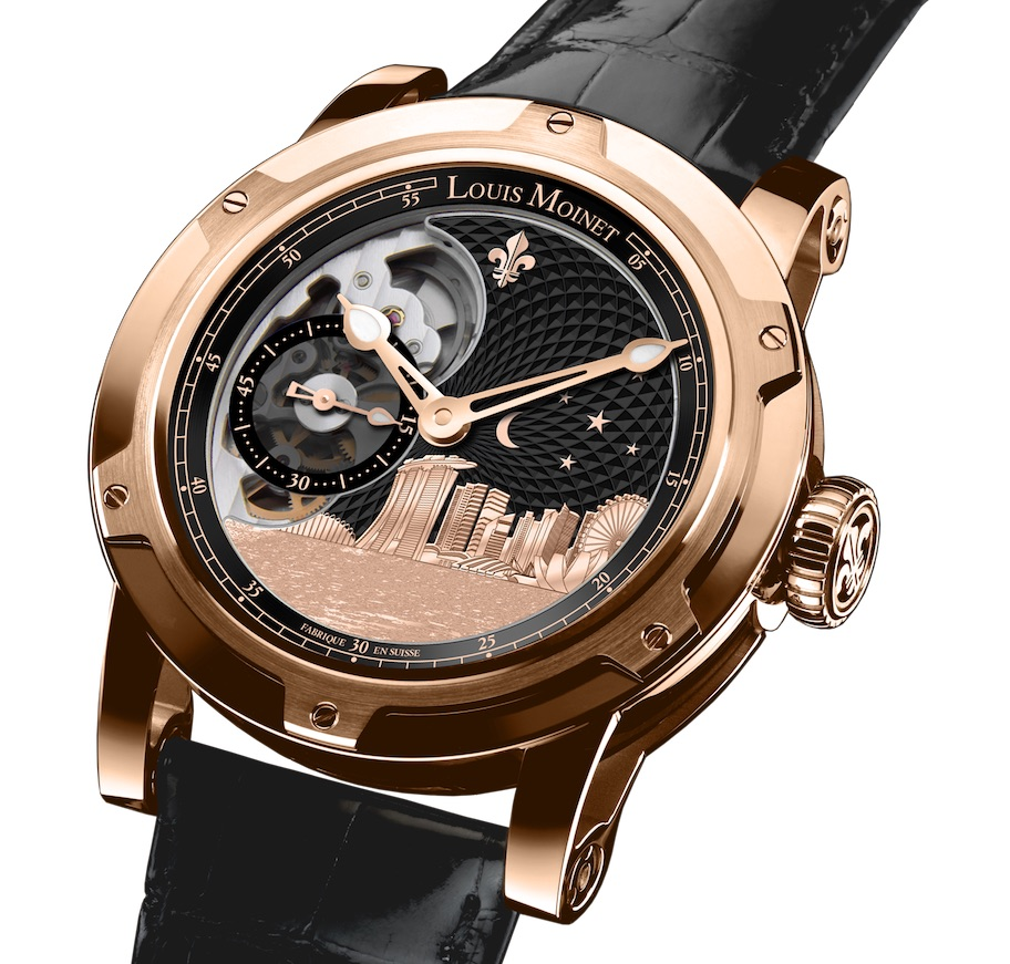 Louis Moinet Singapore Edition watch created in partnership with Wealth Solutions.