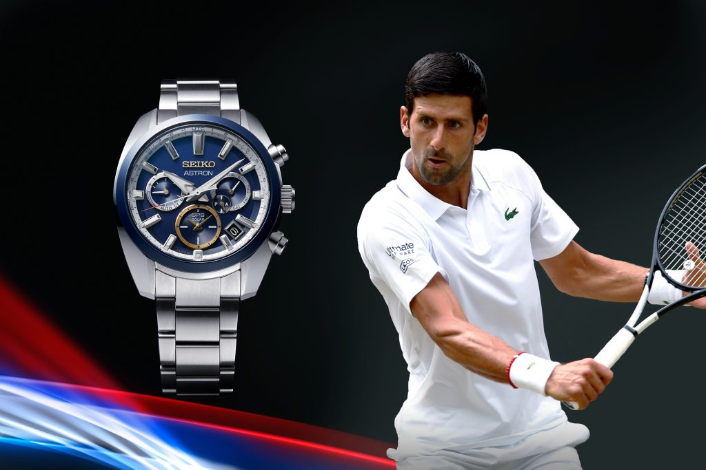 Tennis legend Novak Djokovic is also a Seiko brand ambassador