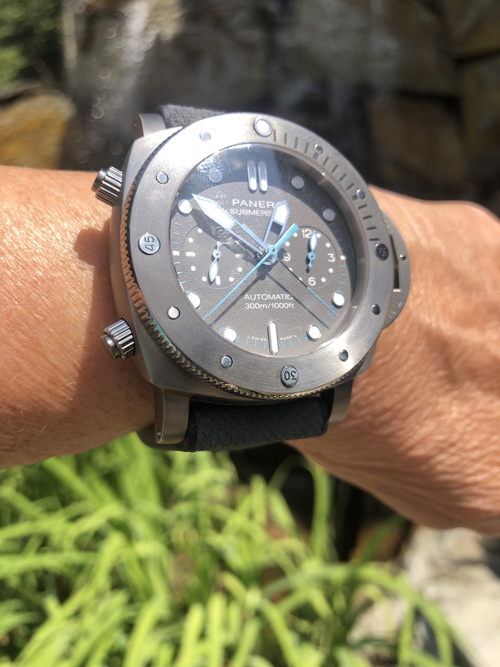 Panerai Submersible Chrono Flyback watch created in collaboration with Jimmy Chin