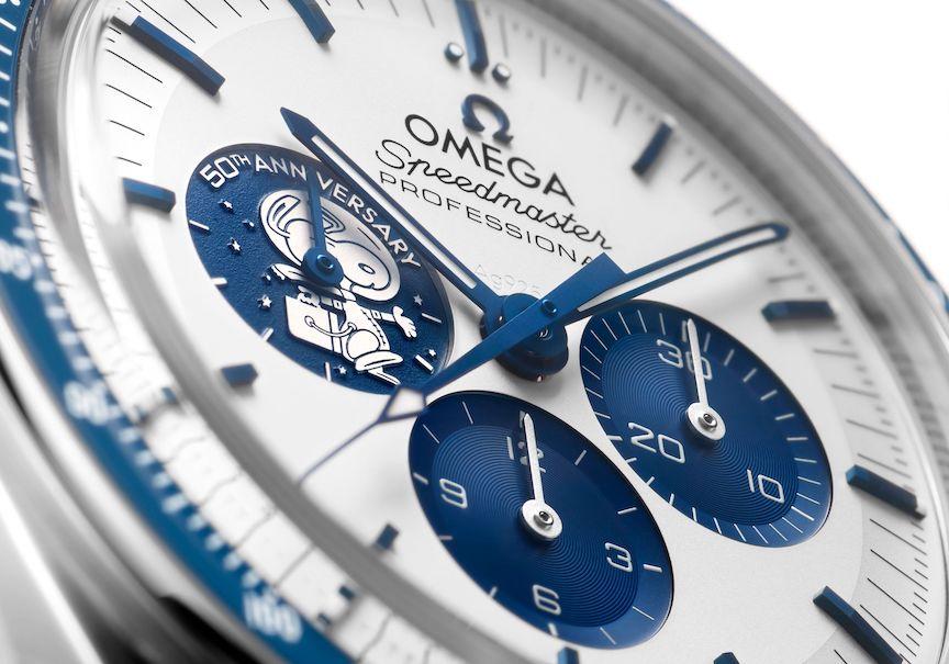 Omega Speedmaster Silver Snoopy Award 50th Anniversary Watch