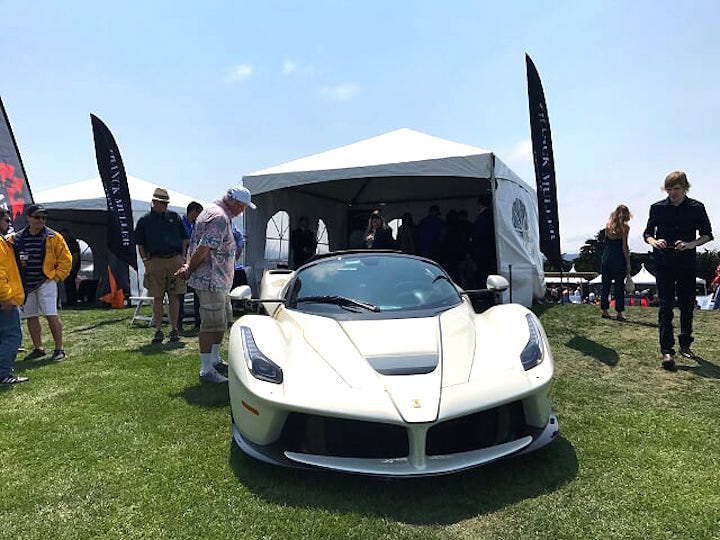 LaFerrari Aperta on display at the Franck Muller exhibit (with Neiman Marcus) at the Concorso Italiano in Monterey.