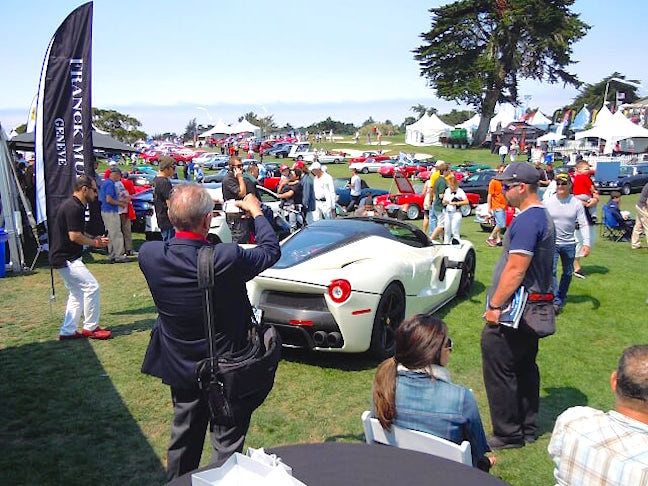 Franck Muller partnered with Neiman Marcus at the Concorso Italiano during Monterey Classic Car week.